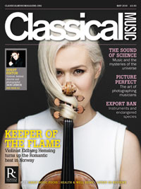Cover of Classical Music Magazine, May 2018